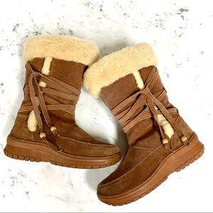 Bearpaw Camel Fur Boot - Size 8